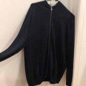 men's zip up. size XL